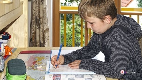 kids learning at home