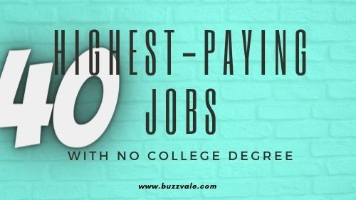 highest paying jobs with no college degrees