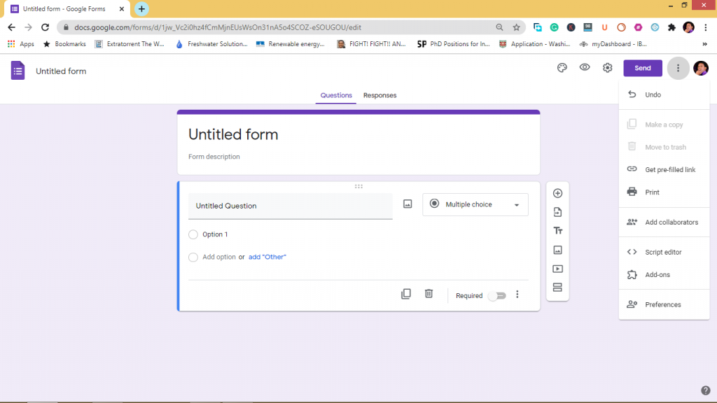 collaborators for google forms in business
