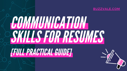 communication skills for your resume