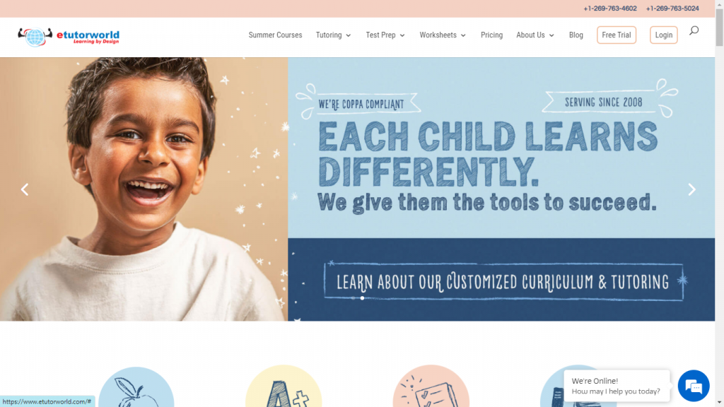 etutorworld.com special online learning site for kids