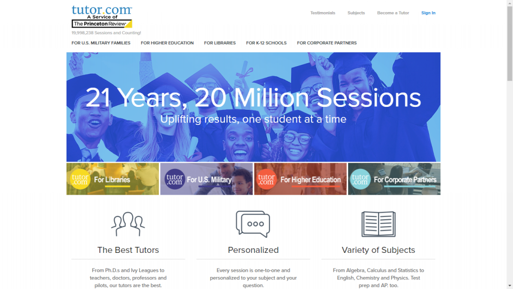 tutor.com top tutoring site